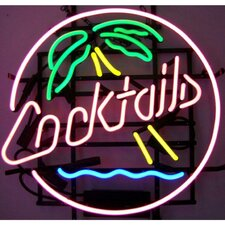 Business Signs Cocktails and Palm Tree Neon Sign