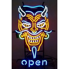 Business Signs Devil Open Neon Sign