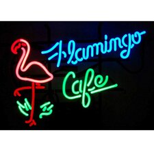 <strong>Neonetics</strong> Flamingo Cafe Neon Sign