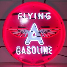 <strong>Neonetics</strong> Flying A Gasoline Neon Sign