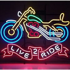 <strong>Neonetics</strong> Live 2 Ride Motorcycle Neon Sign