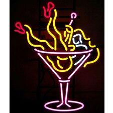 Business Signs Martini Girl Neon Sign