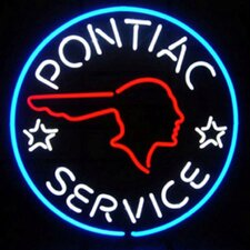 Cars and Motorcycles Pontiac Service Neon Sign