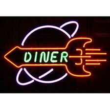 Business Signs Rocket Diner Neon Sign