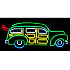 Cars & Motorcycles Surfin Woody Wagon Neon Sign