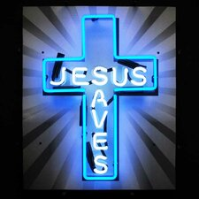 <strong>Neonetics</strong> Jesus Saves Neon Sign