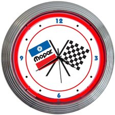 "15"" Mopar Checkered Flag Wall Clock"