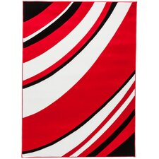 Melody Red Tether Contemporary Rug
