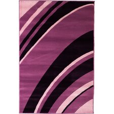 Melody Purple Tether Contemporary Rug