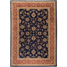 Barclay Navy Sarouk Border Rug