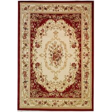 Dulcet Red Versaille Floral Rug