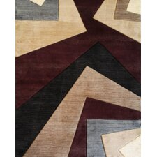Melody Wine Abstract Rug