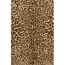 <strong>Infinity Home</strong> Kings Court Gold Leopard Animal Print Rug