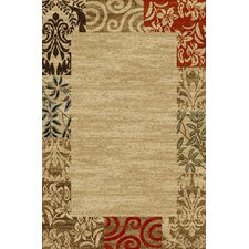 <strong>Infinity Home</strong> Kings Court Natural Jubilee Border Rug