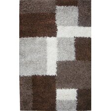 Madison Shag Beige/Brown Cubes Rug