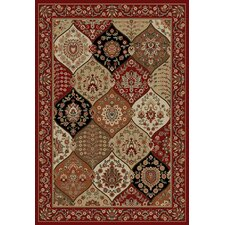 <strong>Infinity Home</strong> Barclay Red Wentworth Panel Rug