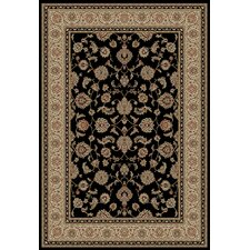 Barclay Black Sarouk Border Rug
