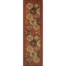 Barclay Red Wentworth Panel Traditional Rug