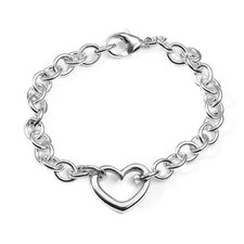 Open Heart Cable Bracelet