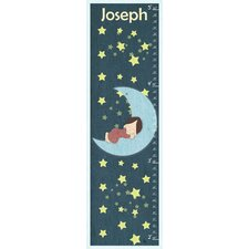 Sleeping on the Moon Personalized Growth Chart