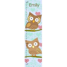 Owls Hearts Personalized Growth Chart