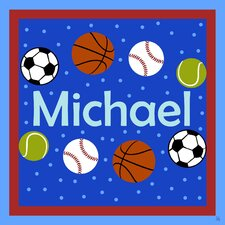 Sports Balls II Personalized Canvas Art