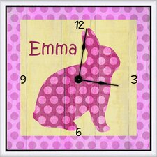 "Bunny Personalized 11"" Art Wall Clock"