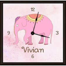 "Elephant Personalized 11""Art Wall Clock"