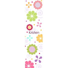Flowers for Girls Personalized Growth Chart