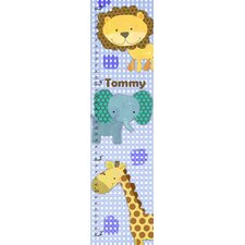 Baby Jungle Animals Personalized Growth Chart