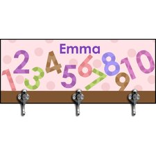 Girl's Numbers Personalized Hook