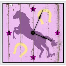 "<strong>Green Leaf Art</strong> Cowgirl's Horse 11"" Art Wall Clock"