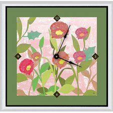 "<strong>Green Leaf Art</strong> Spring Flowers 20"" Art Wall Clock"