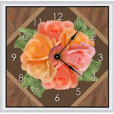 Floral Arrangement Art Clock