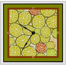 "<strong>Green Leaf Art</strong> 11"" Art Wall Clock"