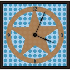 "Lone Star 11"" Boy Art Wall Clock"