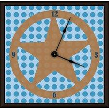 """Lone Star 20"""" Art Wall Clock"""
