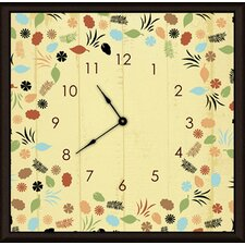 "<strong>Green Leaf Art</strong> Floral and Leaves 11"" Art Wall Clock"