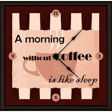 "Morning Coffee 11"" Art Wall Clock"