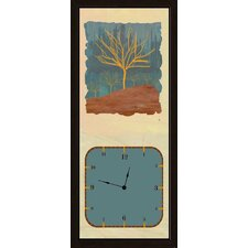 <strong>Green Leaf Art</strong> Winter Tree Art Clock