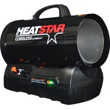 Cordless Rechargeable 30,000-60,000 BTU Forced Air  Propane Space Heater