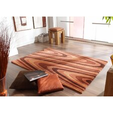 Impression Orange / Brown Knotted Rug