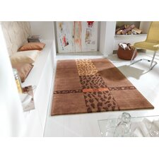 Impression Brown Knotted Rug