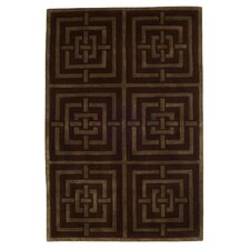 Maze Brown Tufted Rug