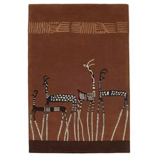 Antelope Brown Tufted Rug
