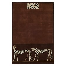 Kalahari Leopard Brown Tufted Rug