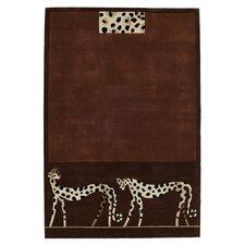 Kalahari Leopard Brown Tufted Rug