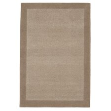 Border Brown Tufted Rug