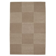 Checks Brown Tufted Rug
