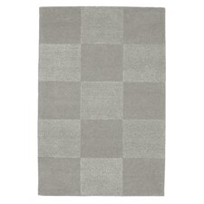 Checks Grey Tufted Rug